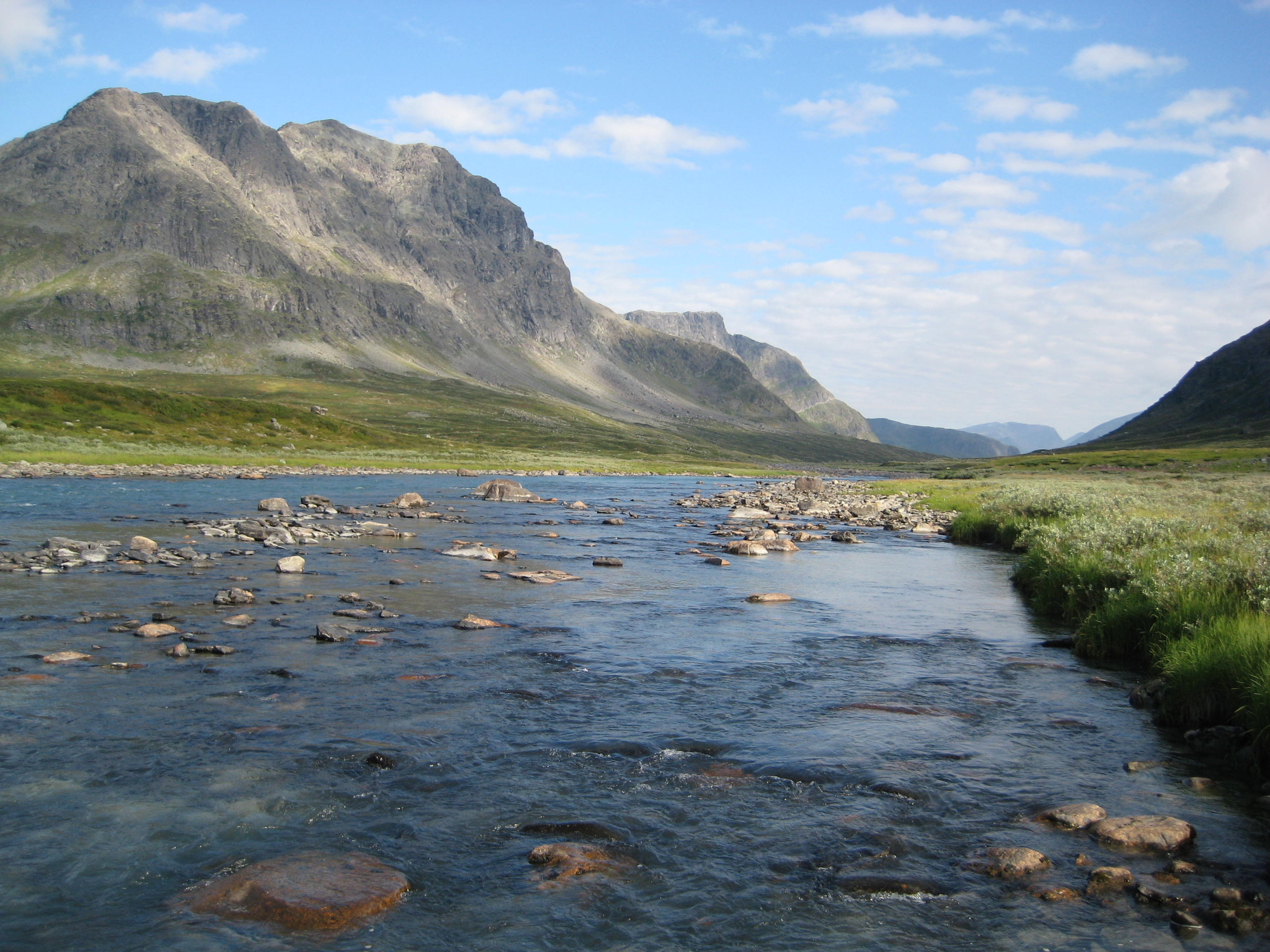 nature swedish hiking sweden kungsleden lakes landscape hike cross