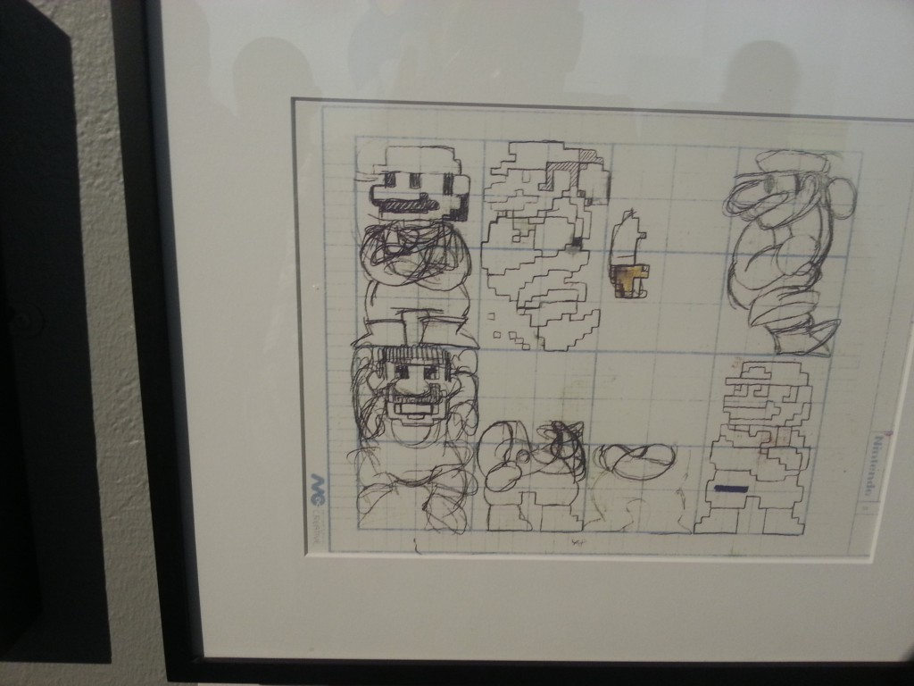 GASP! Miyamoto's ORIGINAL conceptual hand-drawing of Mario for Donkey Kong... :'D
