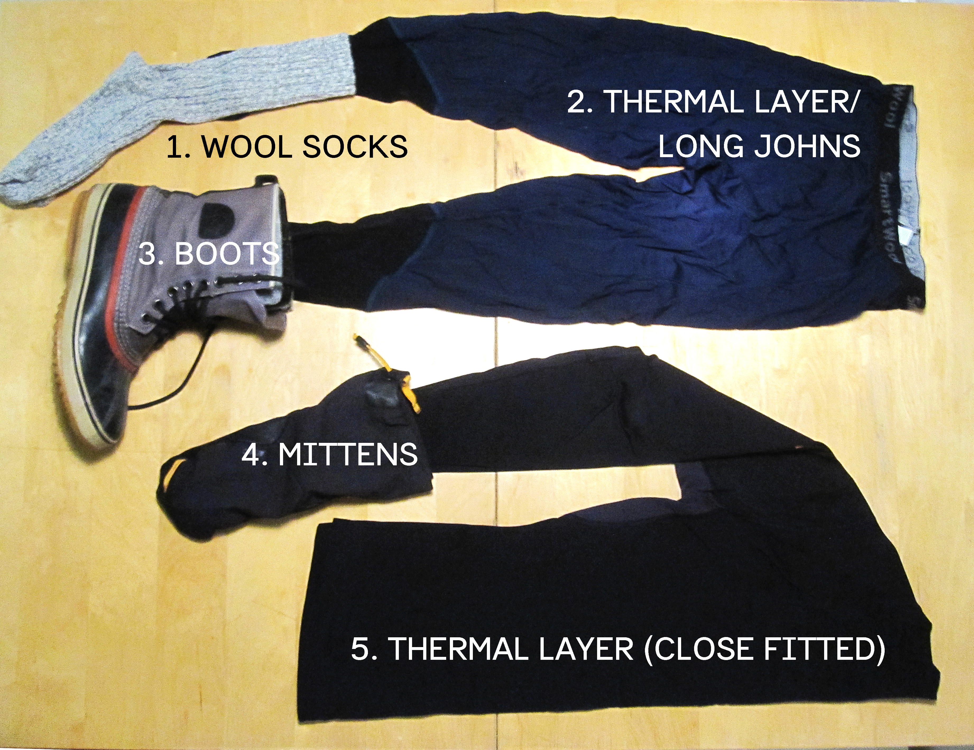 Figure 5: Lower body insulation (for Extreme Coldness) #A68725