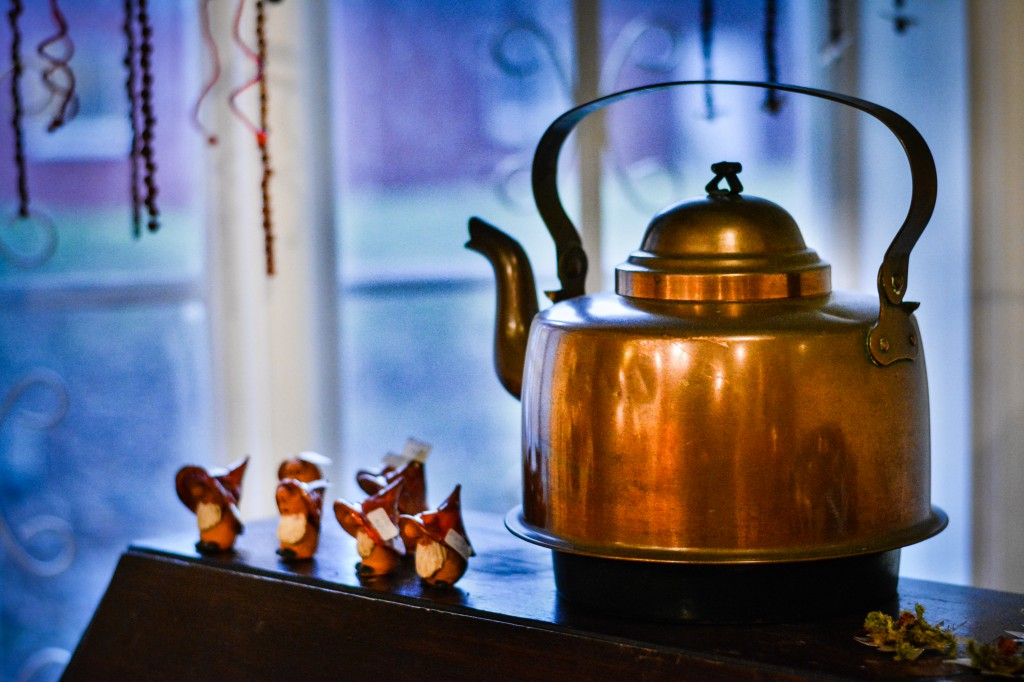 This copper kettle was so shiny, it demanded some extra attention