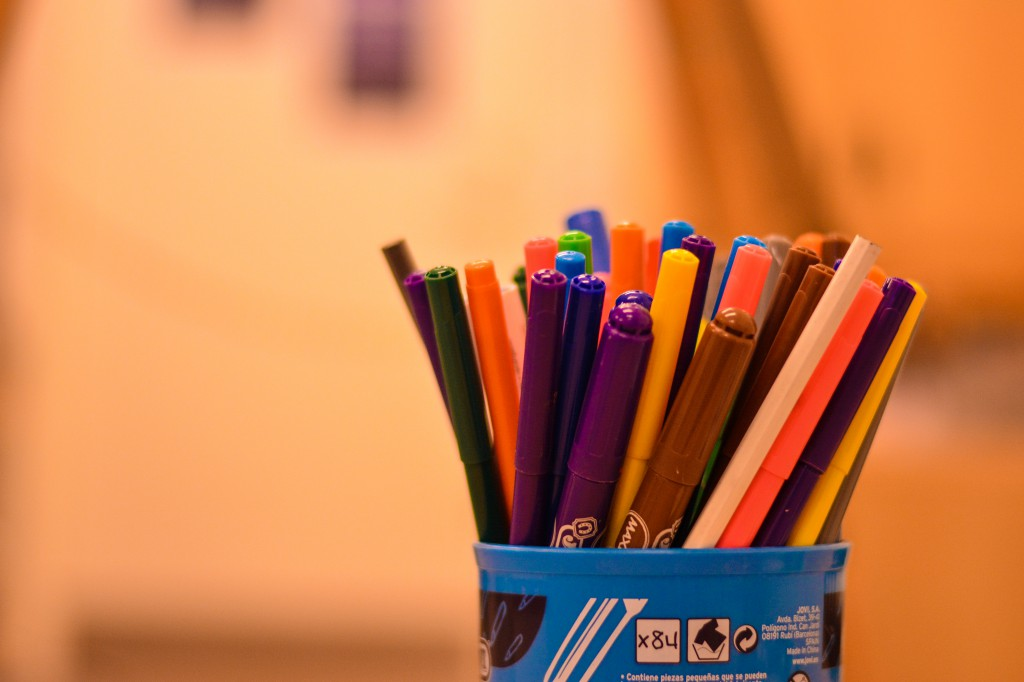 Colorful markers!