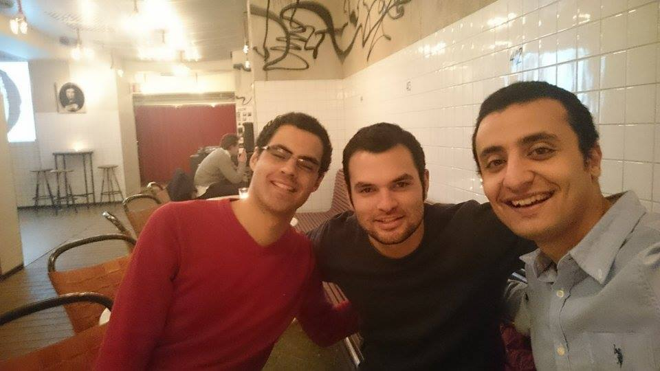 From left to right- my pals Omar, Louis and Magdy- from Egypt, Mexico, and Egypt respectively.
