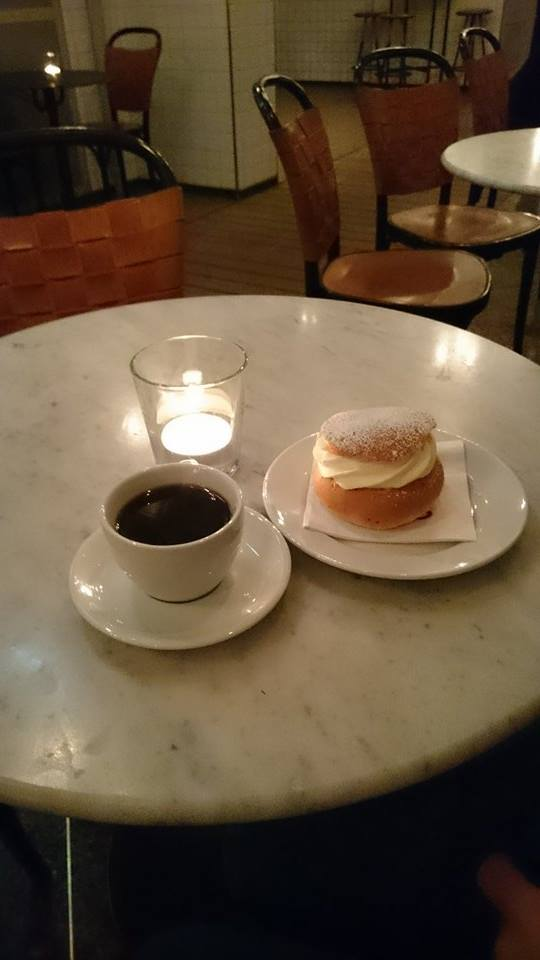 Semla and coffee- A match made in heaven.
