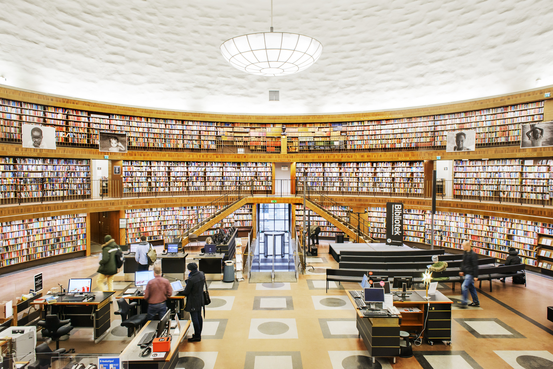 کتابخانه دانشگاه استکهلم در کشور سوئد
