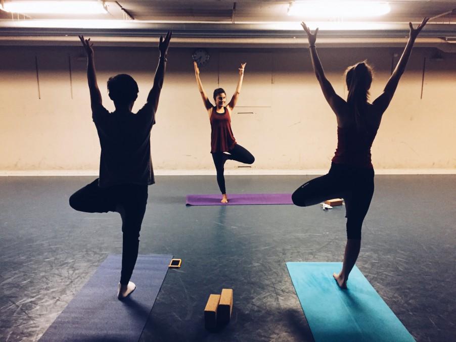 Yoga session with BeYoga