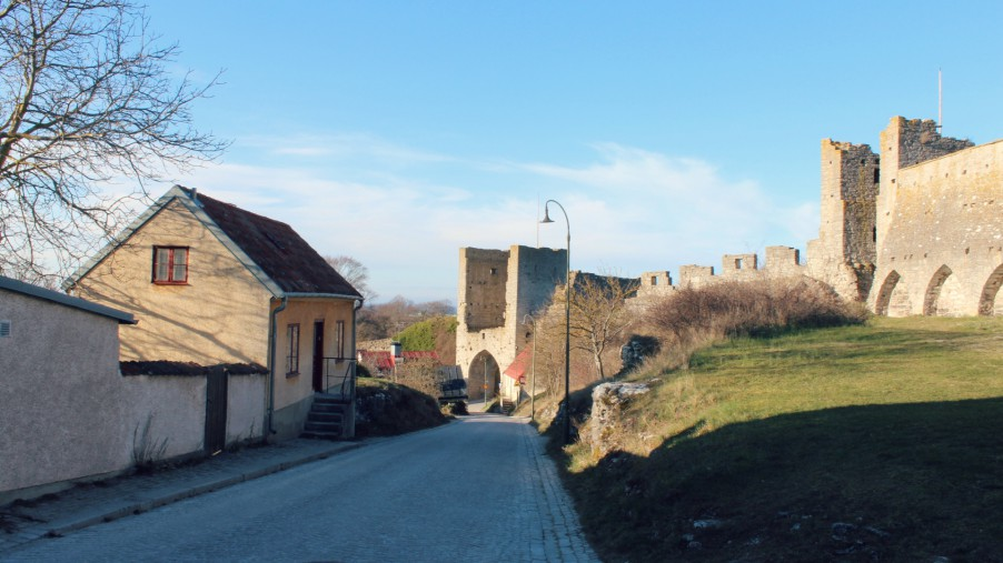 visby wall in gotland