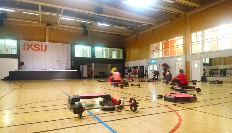 Bodypump class at Iksu sport