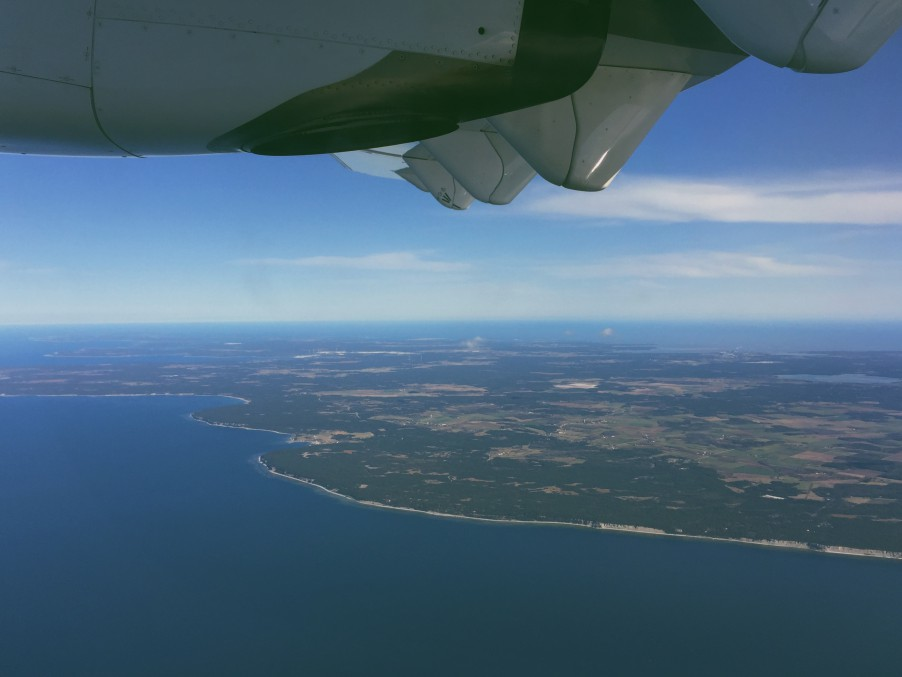 gotland view from plane