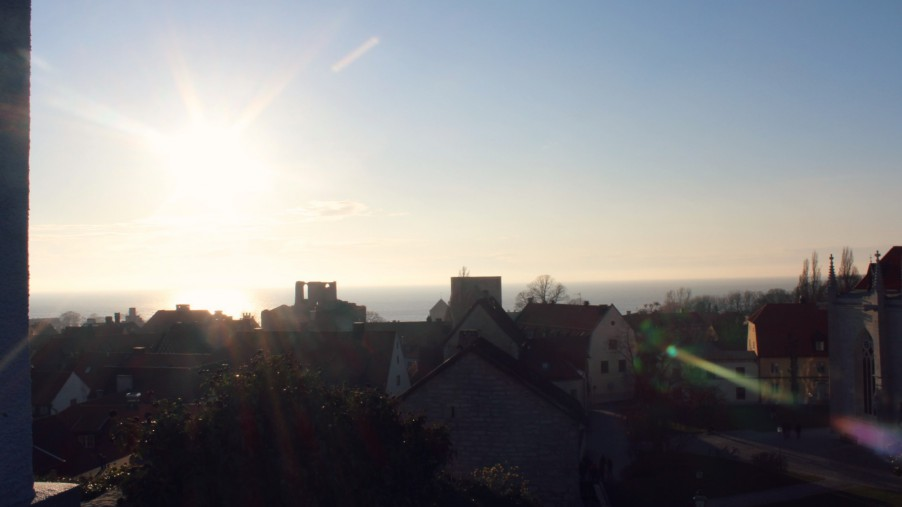 sun over visby in gotland