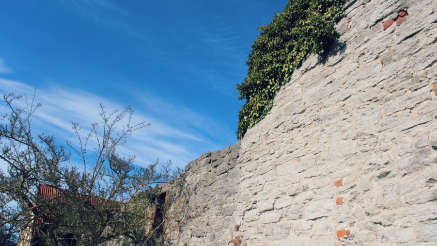 old wall in visby gotland