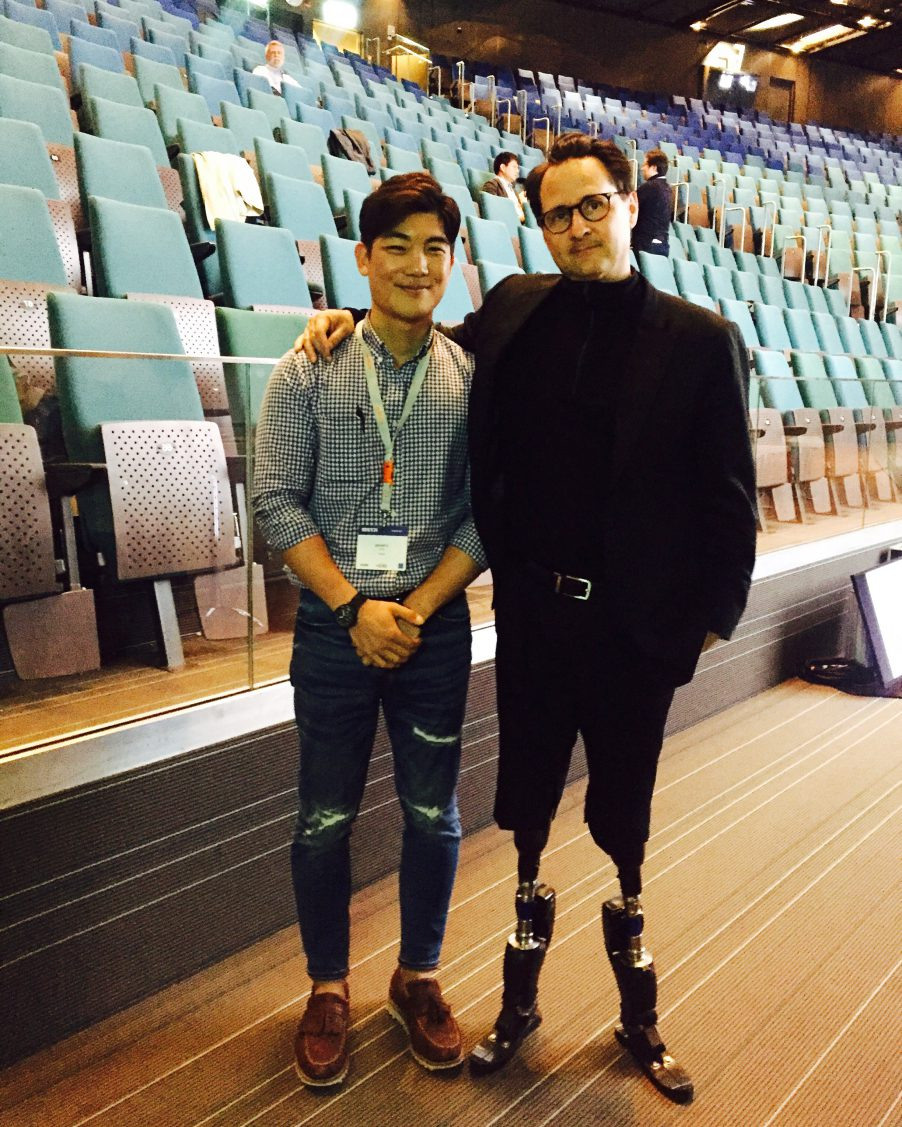 Ji Seung from South Korea and Dr.Hugh Herr