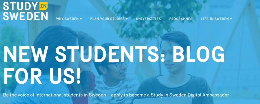 how to apply for free study in sweden