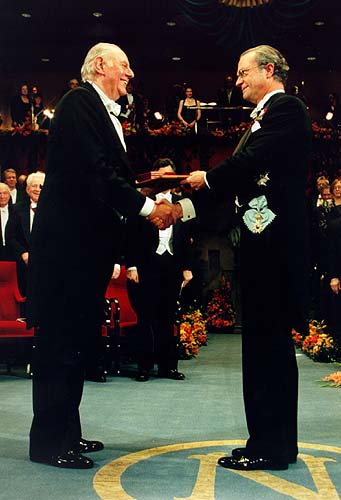 Dario Fo and His Majesty King Carl XVI Gustaf of Sweden - 1997