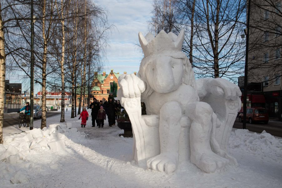Umeå snow sculpture championship