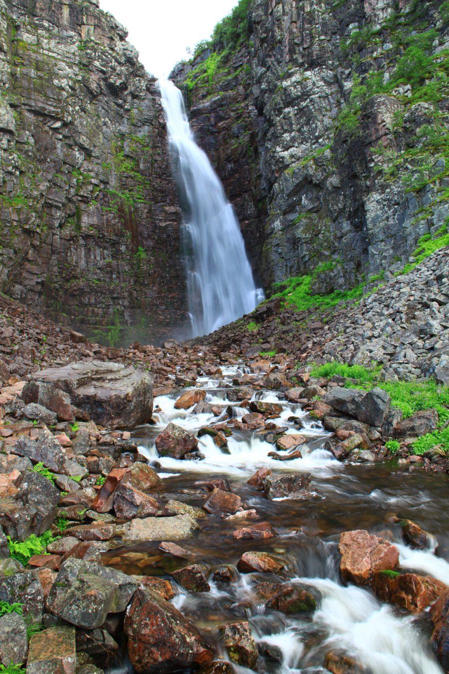 Njupskär Waterfall