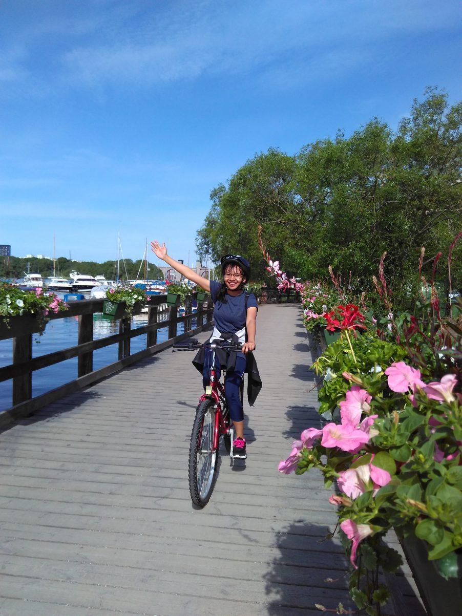 Biking in Stockholm during Summer