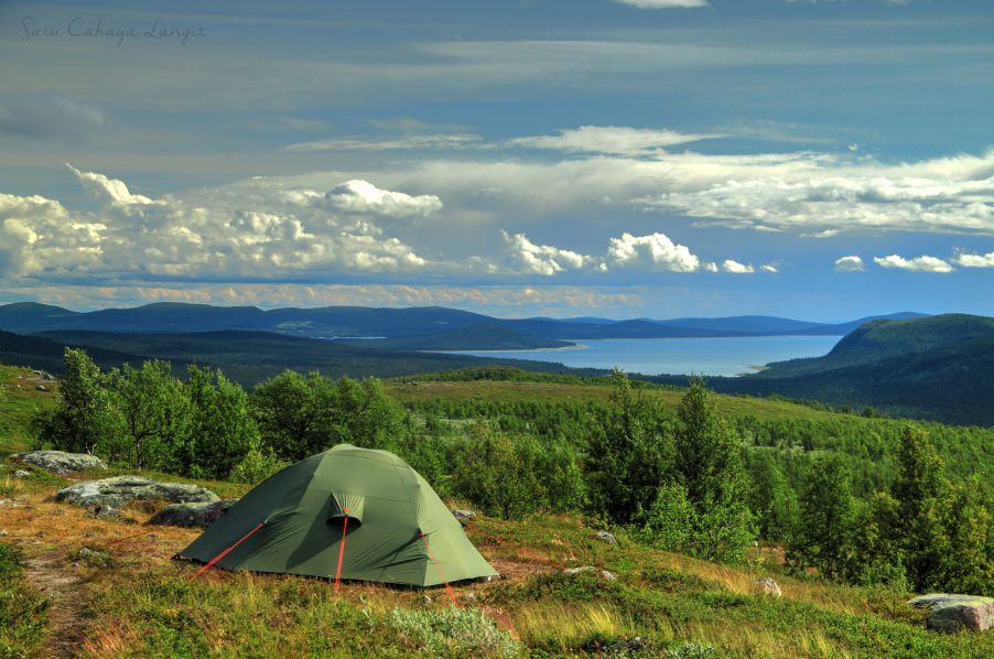 Camp with beautiful view