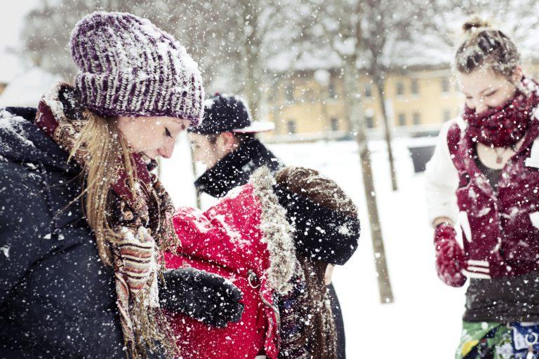 Snowing in Östersund