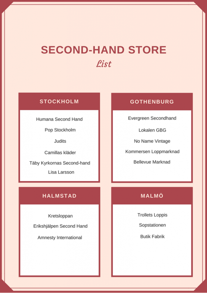 second-hand store list