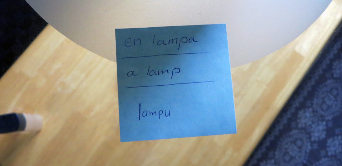 learn swedish post it