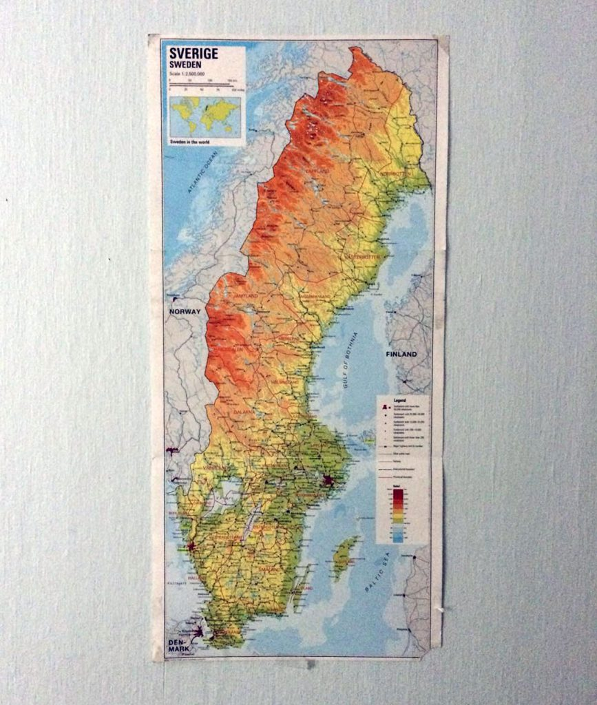 Map of Sweden, my motivation