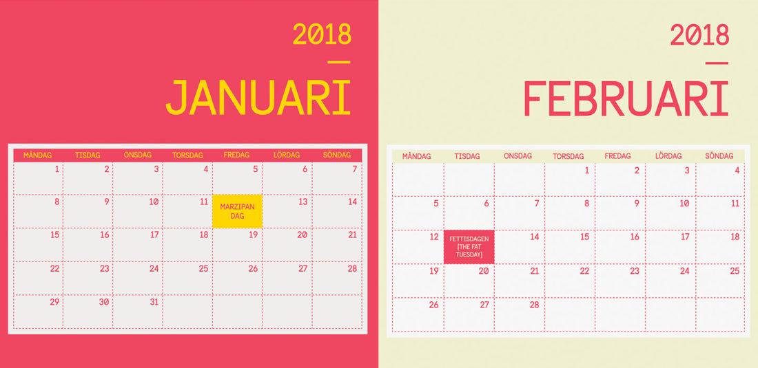 2018 sweet calendar