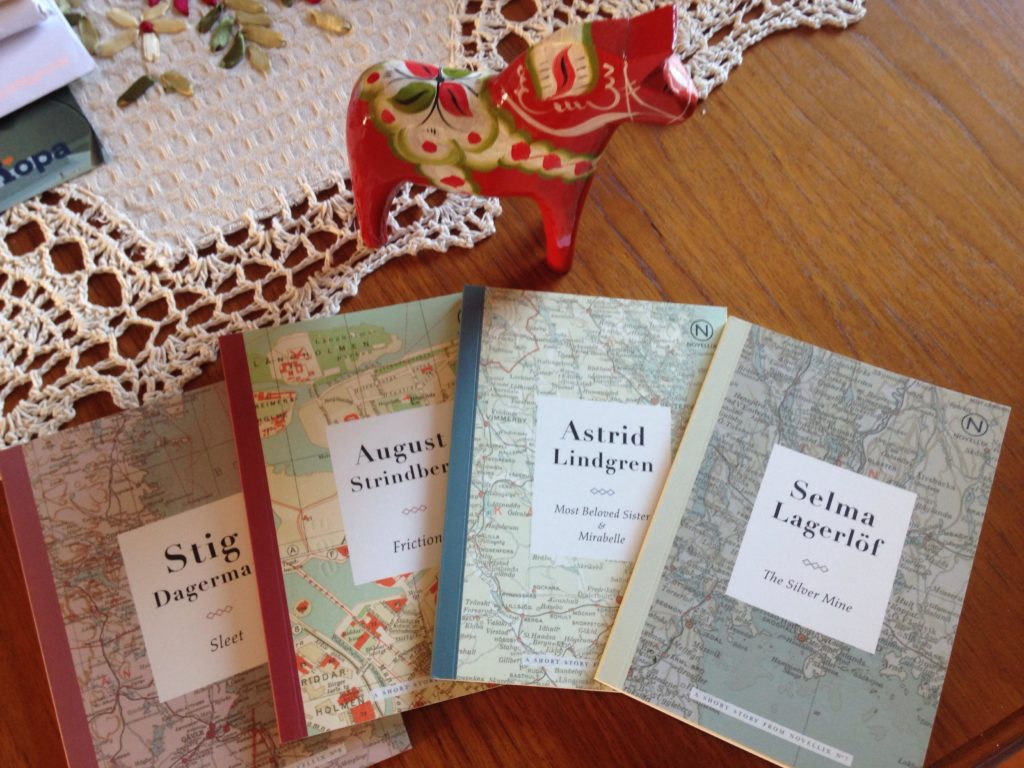 Four Swedish novellas and a Dala horse! / Photo by Emma