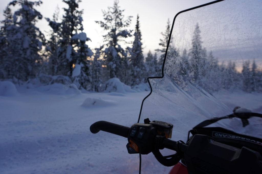 Snowmobile tour through Kiruna, Source: Inez