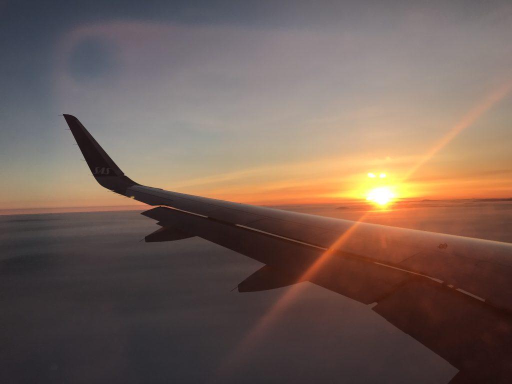 Flying to Kiruna with SAS Youth, Source: Inez