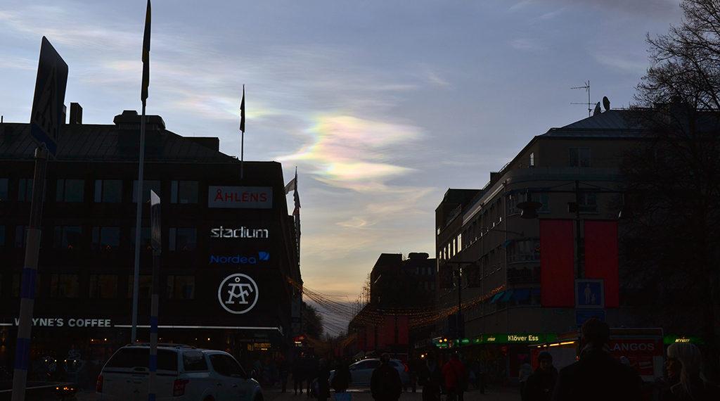 Nacreous cloud in Gävle