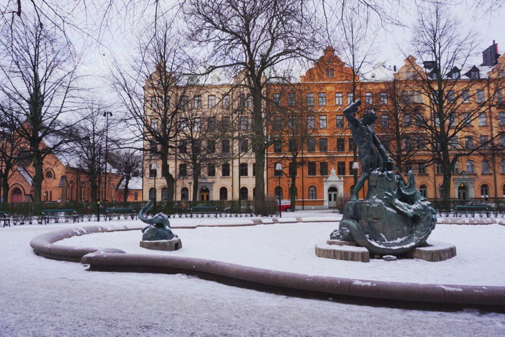 Snowy Mariatorget, Source: Inez