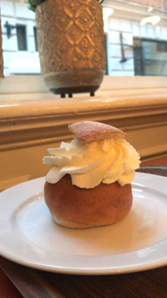 a photo of the Swedish Easter treat, Semla