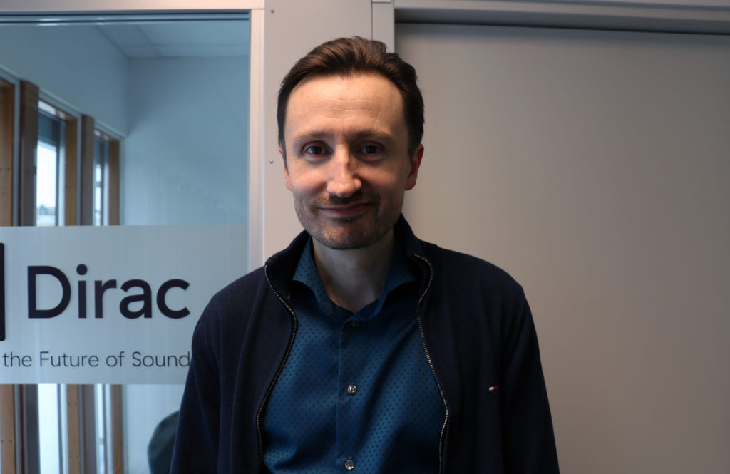 Mattias Johansson, CEO & co-founder of Dirac (Source: Raeed)