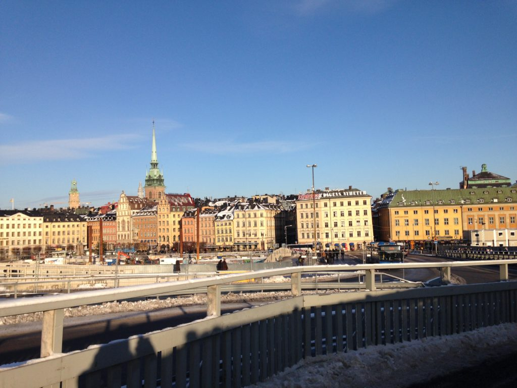 View from Slussen under development January 2018