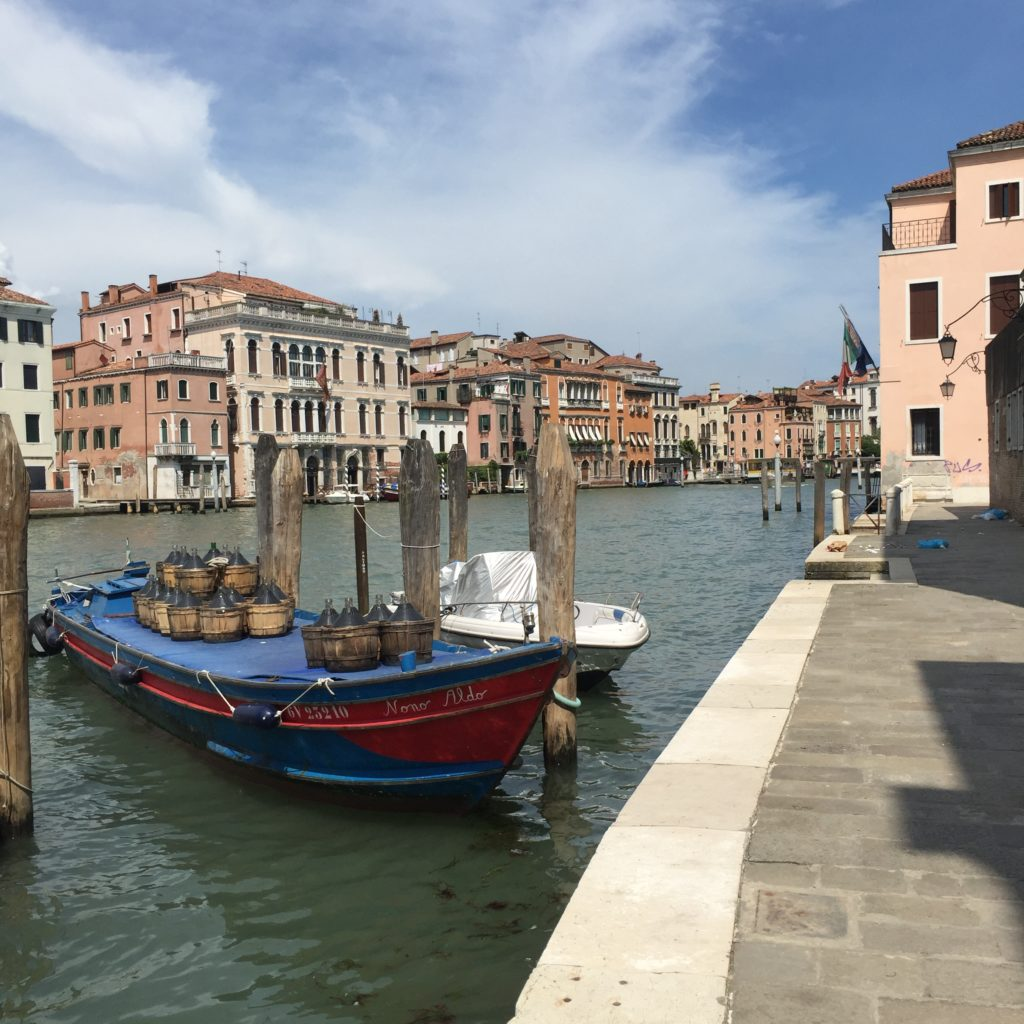 Aforementioned boat transferred barrels of wine in Venice, June 2018