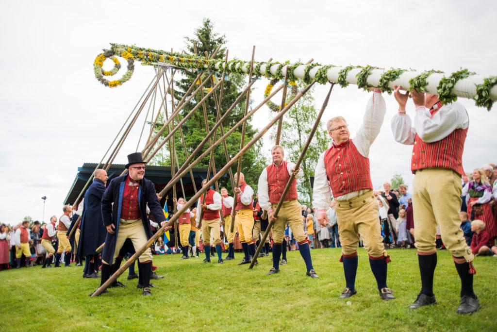 Maypole for midsummer (Per Bifrost/imagebank.sweden.se)