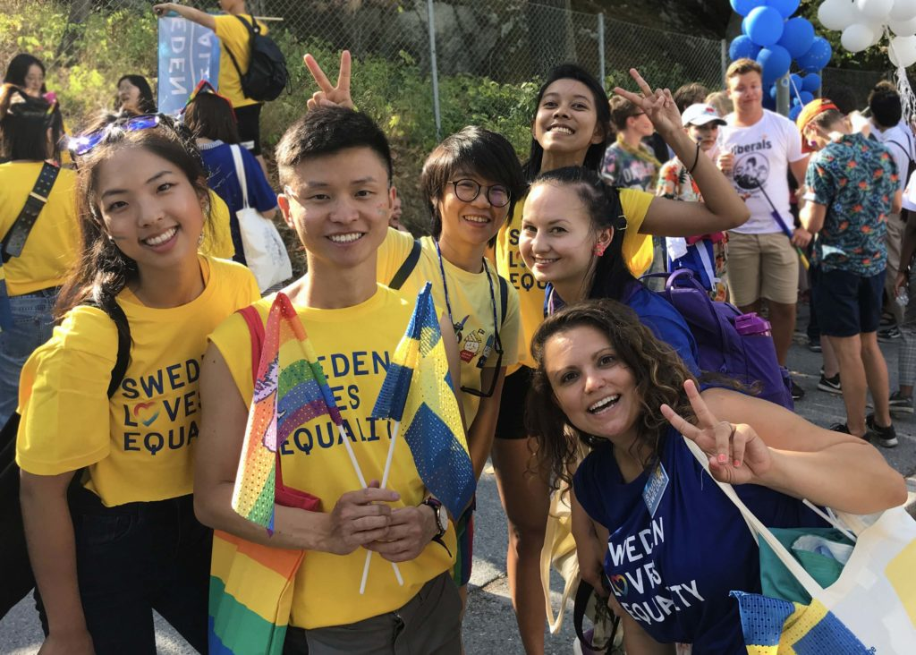 Study in Sweden team in EuroPride 2018 (Source: Cornellius)
