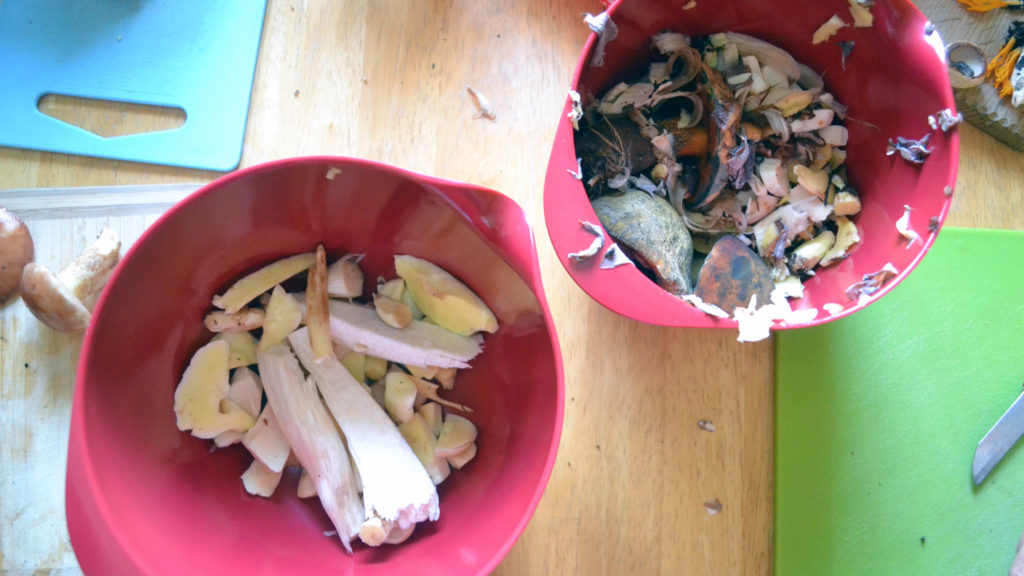 The amount of mushrooms to be cooked are often less than the one get thrown away (Source: Sania)