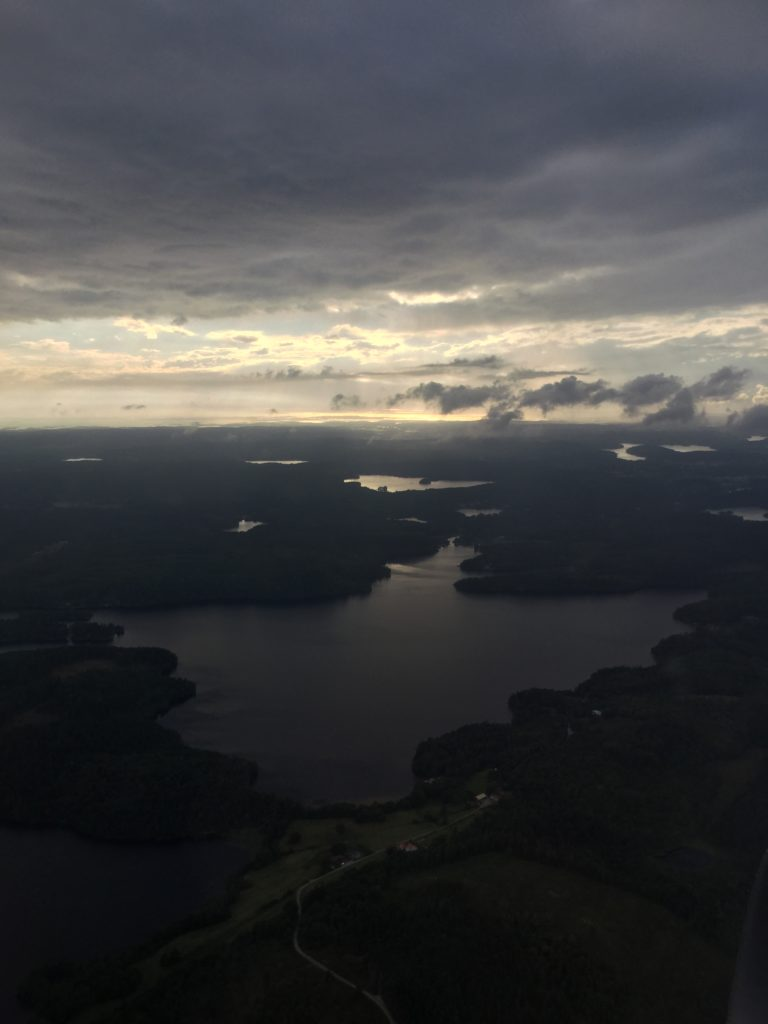A view from the plane, touching down in Sweden / Photo credit: Emma