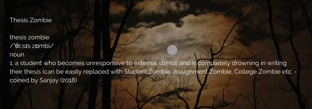 thesis zombie defined