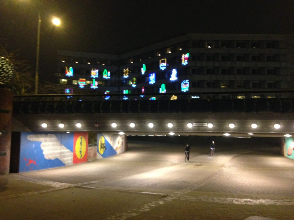 Nighttime in Malmö, December 2017