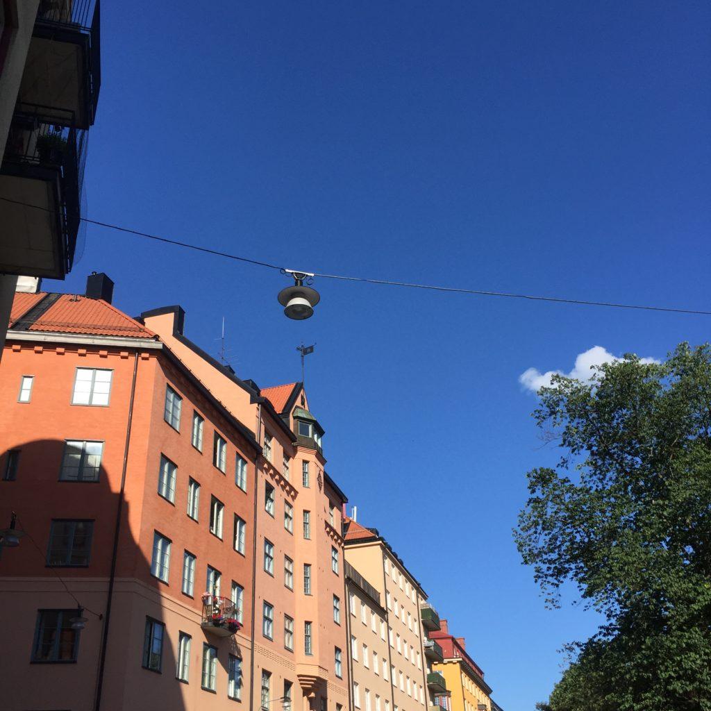 Pink building on Södermalm, Stockholm