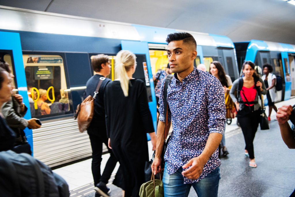 Digital Ambassador Raeed on the Stockholm metro