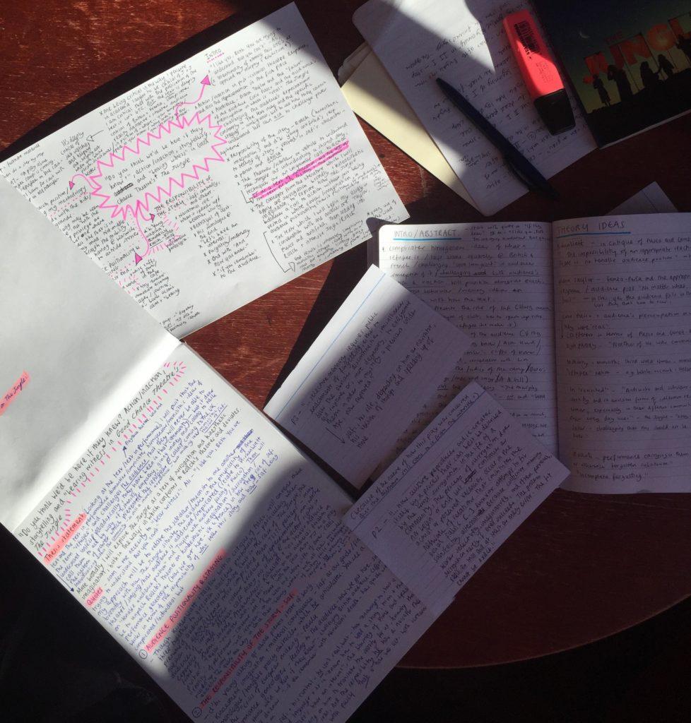 Essay notes