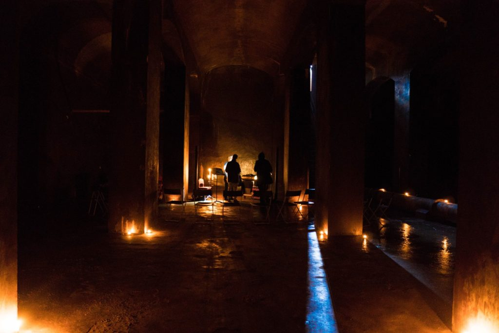 Kulturtemplet, a former underground reservoir turned performance venue