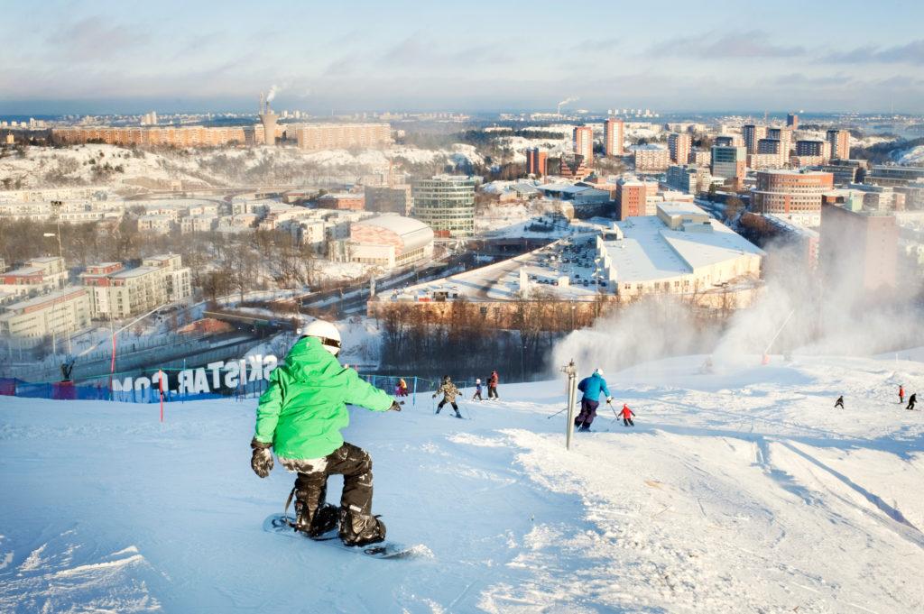 ski slope in Stockholm