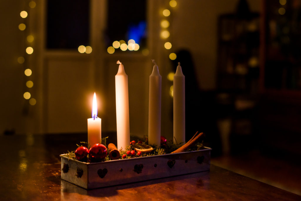 photo of candles in Christmas/Winter