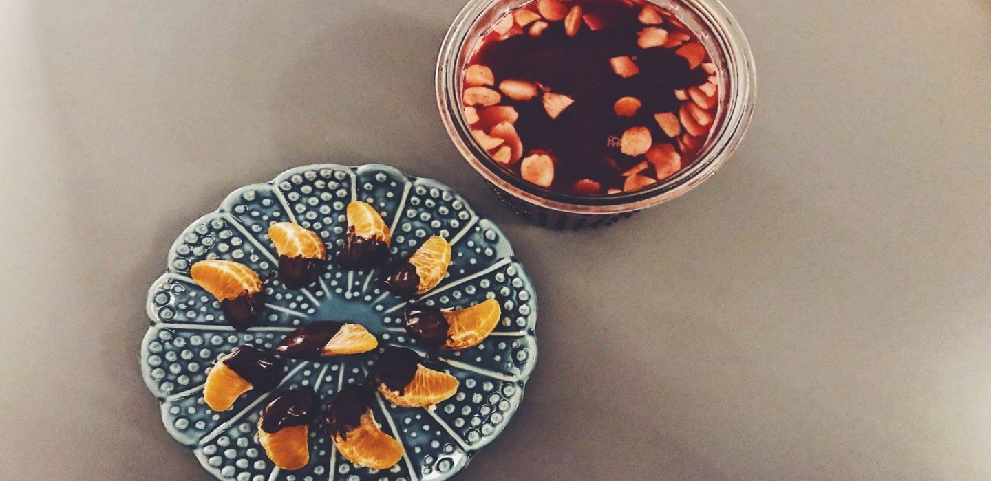 Glögg and clementines recipe