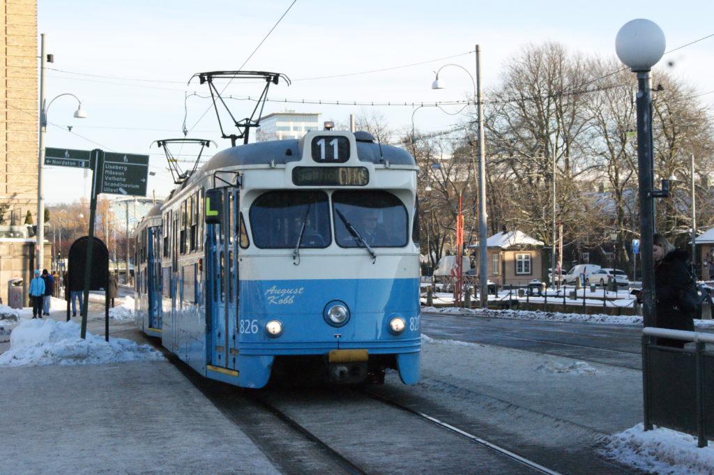 Gothenburg's iconic blue trams/ Credit: Katharina