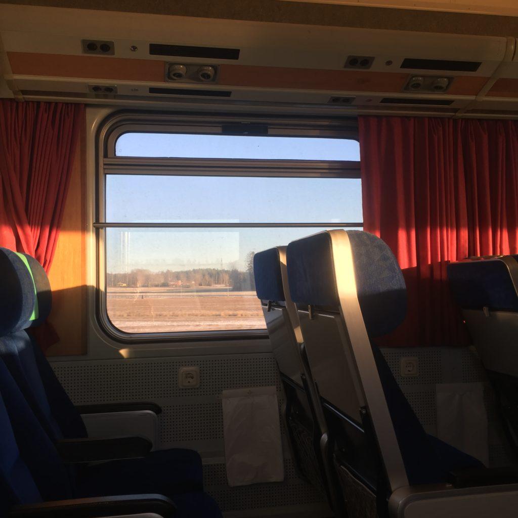 Train in the sun